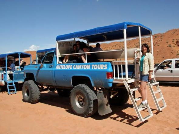 Antelope Canyon - nasz transport do kanionu