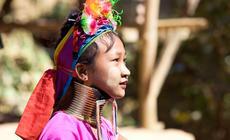 Dziewczynka z plemienia Karenów w północnej Tajlandii